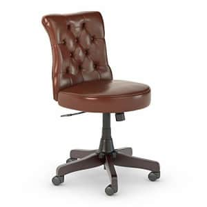 Bush Furniture Bush Business Furniture Arden Lane Mid Back Tufted Office Chair, Harvest Cherry Leather for $251