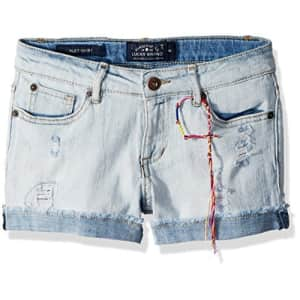 Lucky Brand Big Girls' 5-Pocket Cuffed Stretch Denim Short, Ronnie Bella wash, 8 for $28