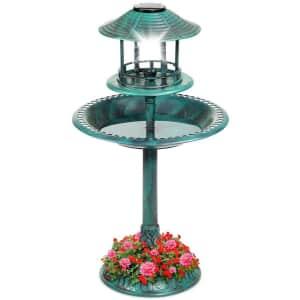 Best Choice Products Solar Bird Bath w/ Planter for $40