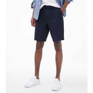"Aeropostale Men's 9.5"" Dot Print Classic Chino Shorts for $10"