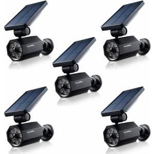 Bell+Howell Bionic Solar Motion-Detecting Spotlight 5-Pack for $80