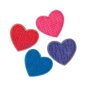 Fun Express Plastic Valentine Maze Puzzles (6 Dozen) Valentine's Day Exchanges, Party Favors, for $14