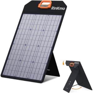 Rinkmo 50W Portable Solar Panel for $76
