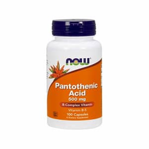 Now Foods NOW Pantothenic Acid 500mg, 100 Capsules (Pack of 2) for $9