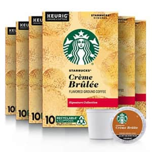 Starbucks Flavored K-Cup Coffee Pods Crme Brle for Keurig Brewers 6 boxes (60 pods total) for $43