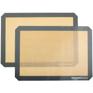 AmazonBasics Silicone Baking Mat Sheet 2-Pack for $14