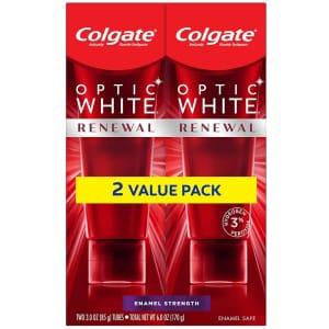 Colgate Optic White Renewal Teeth Whitening Toothpaste 3-oz. 2-Pack for $7.17 via Sub & Save