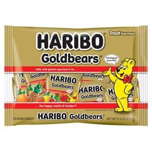 Haribo Goldbears Gummi Candy, .42 oz. Individually Wrapped Mini Treat Bags, 9.5 Total oz. for $18