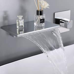Homary Waterfall Wall Mount Faucet for $150