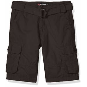 Southpole - Kids Boys' Little Belted Mini Canvas Cargo Shorts in, Dark Grey 3, 6 for $13