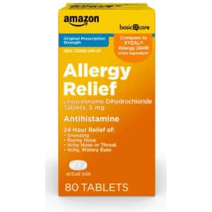Allergy Relief from Amazon Basic Care: Up to 20% off + Extra 5% off