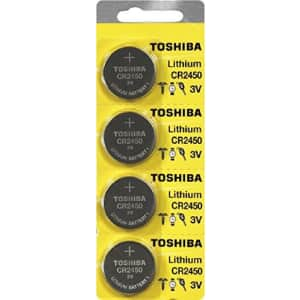 Toshiba CR2450 Battery 3V Lithium Coin Cell (80 Batteries) for $75