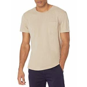 PAIGE Men's Kenneth Crew Neck TEE Shirt, Desert Ivory, S for $53
