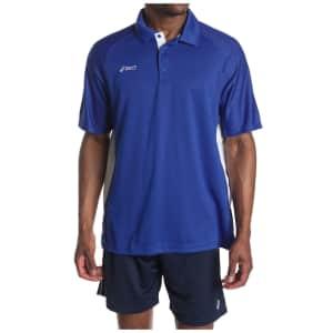 ASICS Men's Corp Polo Shirt for $13