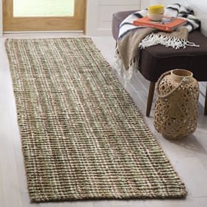 Safavieh NF447S-2 Fiber Collection Sage and Natural Jute Area Rug, 2' x 3', for $22