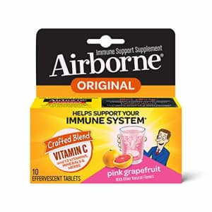 Vitamin C 1000mg (per serving) - Airborne Pink Grapefruit Effervescent Tablets (10 count in a box), for $61