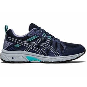 ASICS Women's Gel-Venture 7 (D) Shoes, 7.5W, Black/Silver for $63
