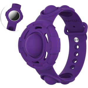 Lemoncover Silicone Fidget Wristband for Apple AirTag for $5