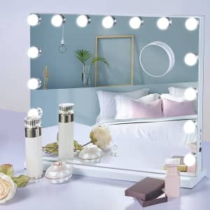 Nekl Hollywood Vanity Mirror with LED Lights for $77