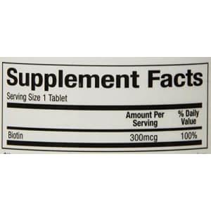 Natural Factors - Biotin 300mcg, Promotes Healthy Hair & Nails, 90 Vegetarian Capsules for $7