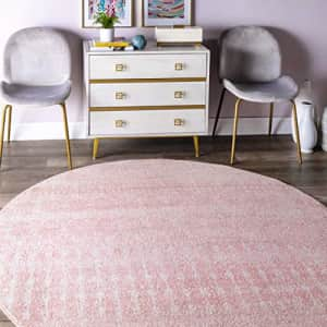 nuLOOM Moroccan Blythe Area Rug, 6' Round, Pink for $70