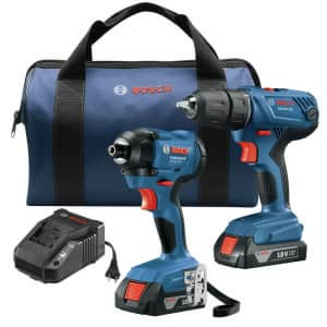 Bosch 18V Drill and Impact Driver Kit for $130
