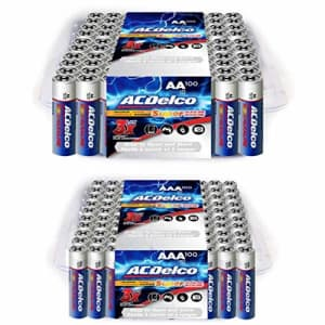 ACDelco 100-Count Each AA and AAA Batteries, Maximum Power Super Alkaline Battery for $39
