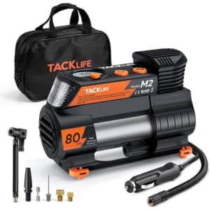 Tacklife M2 12V DC Portable Air Compressor for $28