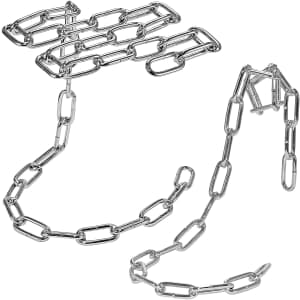 Southern Homewares Magic Floating Chain Glass Stemware Rack and Wine Bottle Holder Set for $13
