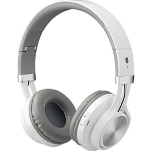 ILIVE IAHB56W Bluetooth Headphones with Microphone (White) for $30