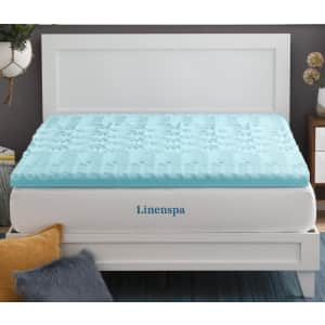 "Linenspa Essentials 3"" Zoned Gel Memory Foam California King Mattress Topper for $83"