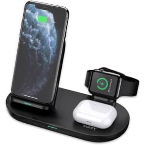 Aukey 3-in-1 Wireless Charging Station for $17