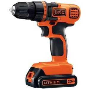 Black + Decker 20V Max Lithium Drill/Driver for $39