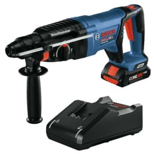 "Bosch Bulldog 18V Cordless 1"" Rotary Hammer Kit for $130"