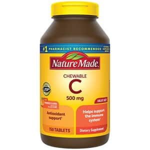 Nature Made Chewable Vitamin C 500 mg Tablets, 150 Count Value Size to Help Support the Immune for $16