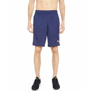 """PUMA Men's Active 8"""" Shorts, Peacoat, Large for $25"""