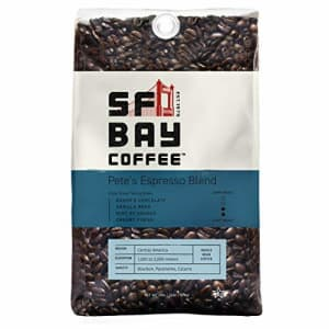 SF Bay Coffee Pete's Espresso Blend Whole Bean 2LB (32 Ounce) Dark Roast (Packaging May Vary) for $24