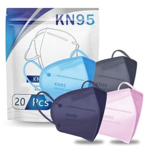 Hotodeal KN95 Face Mask 20-Pack for $20