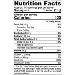Jarrow Formulas Organic Plant Protein, Vanilla Spice, 16 Ounce for $19