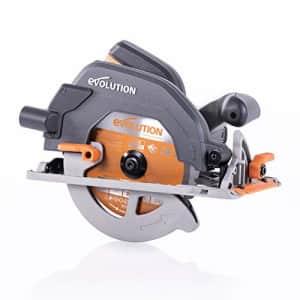 "Evolution Power Tools R185CCS 7-1/4"" TCT Multi-Material Cutting Circular Saw, 7-1/4"", Orange for $100"