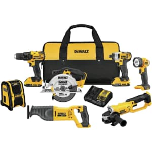 DeWalt 20V Max Compact Cordless 7-Tool Combo Kit for $508 in cart