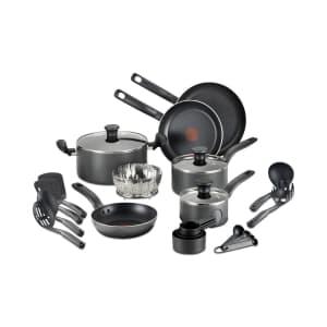 T-Fal 18-Piece Nonstick Cookware Set for $52