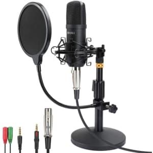 Manli Professional Studio Condenser Microphone Kit for $66