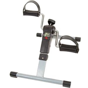 Wakeman Portable Folding Fitness Pedal Stationary Under Desk Exercise Bike for $30