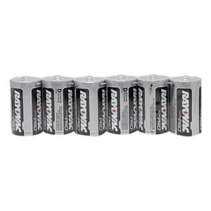 Hand2mind Alkaline D Batteries, Pack of 6 for $24