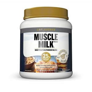 Muscle Milk 100% Whey Protein Powder Blend, Unflavored, 25g Protein, 1 Lb for $28