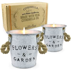 Tofu Outdoor Citronella Candles 2-Pack for $22