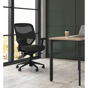 HON Prominent High Back Task Mesh Computer Chair with Arms for Office Desk, Black (HVL532), for $220