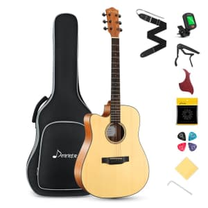 Donner Left Handed Beginner Guitar Set for $105