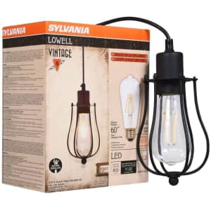 Sylvania Lowell Cage Pendant Light for $11
